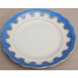 Porcelana šķīvis ar zeltījumu