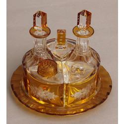 Krāsainā stikla garšvielu trauku komplekts