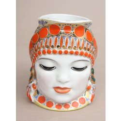 Decorative porcelain mug