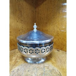 Metal sweet bowl with lid