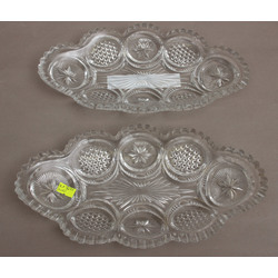 Glass serving dish (2 pcs.)