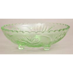Zaļā stikla servējamais trauks