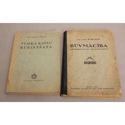 2 grāmatas - Tvaika katlu kurināšana, Būvmācība arodskolām un tehnikumiem
