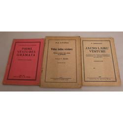 3 vēstures grāmatas - Jauno laiku vēsture, Viduslaiku vēsture, Pirmā vēstures grāmata