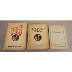 3 grāmatas - Romiešu tiesību hrestomātija, Sengrieķu teikas, Grieķu un romiešu teikas