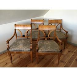 4 bīdermermeijera stila atpūta krēsli