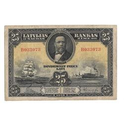 25 Latu banknote 1928