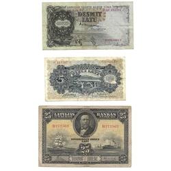 Banknotes - 5, 10, 25 Lati