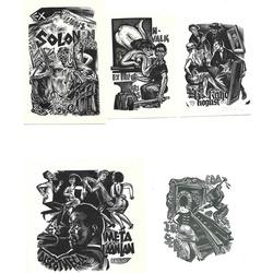 Richarda Kaljo 10 ekslibri un 1 brošūra