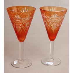 Krāsainā stikla glāzes 2 gab.