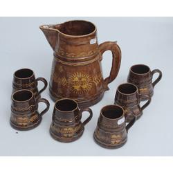 Keramikas aluss kauss ar 6 kausieņiem