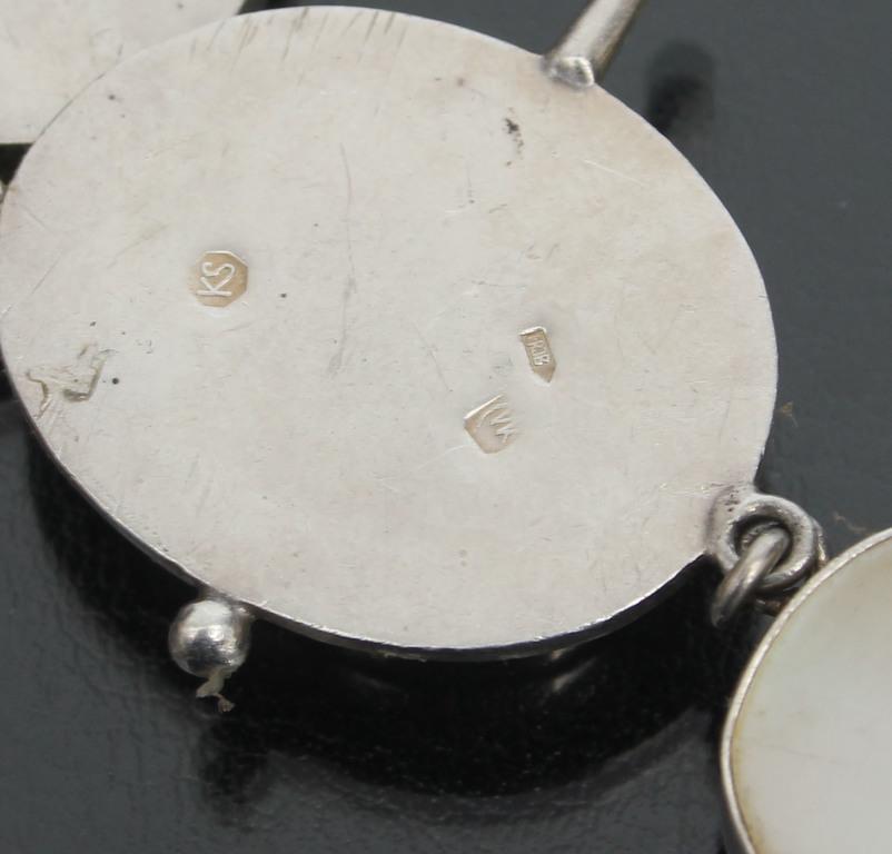 Комплект украшений - колье, серьги и кольцо