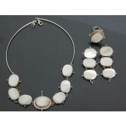 Jewelry set - necklace, earrings and ring
