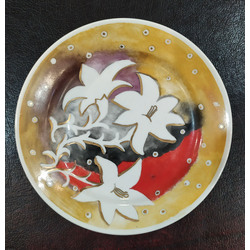 Two hand painted porcelain plates