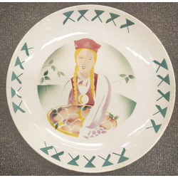 Decorative faience plate