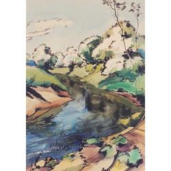 Ainava ar upīti