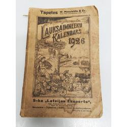 J.Bisenieks, Lauksaimnieku kalendārs 1926