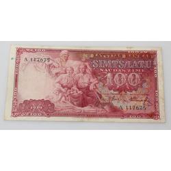 1939.gada 100 latu naudas zīme