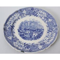 Fajansa dekoratīvais šķīvis