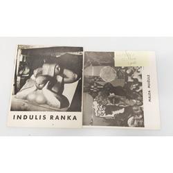 2 izstādes katalogi - Malda Muižule, Indulis Ranka