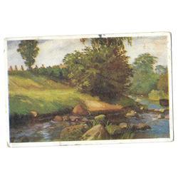 Atklātnīte ''Ainava ar upīti