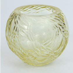 Vase made from yellow glass