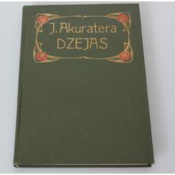 J.Akuraters, Rožains vējs(Dzejas) ar vāku Jūgendstilā
