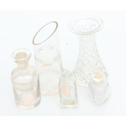 Dažādu stikla izstrādājumu komplekts (5 gab.)