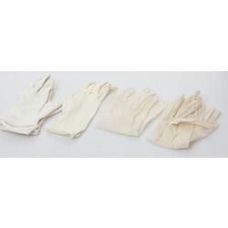 Četri pāri baltu sieviešu cimdu