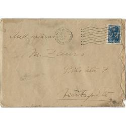 M.Zaura vēstule adresēta māsai (ar konvertu un marku)