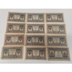 12 1 rubļa banknotes 1898