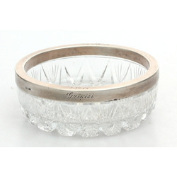 Crystal bowl with silver finish