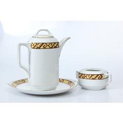 Porcelāna Kanna, cukurtrauks, šķīvis