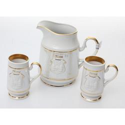 Porcelāna komplekts - Kanna un divas krūzes
