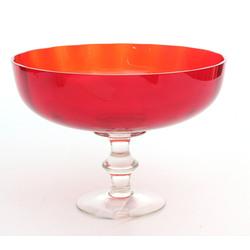 Krāsainā stikla saldumu trauks