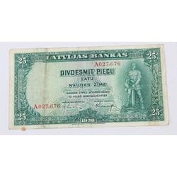 Divdesmit piecu latu naudas zīme, 1938