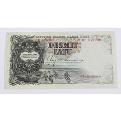 Desmit latu naudas zīme, 1939