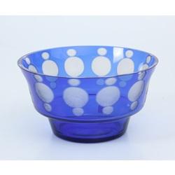 Zilā stikla bļoda