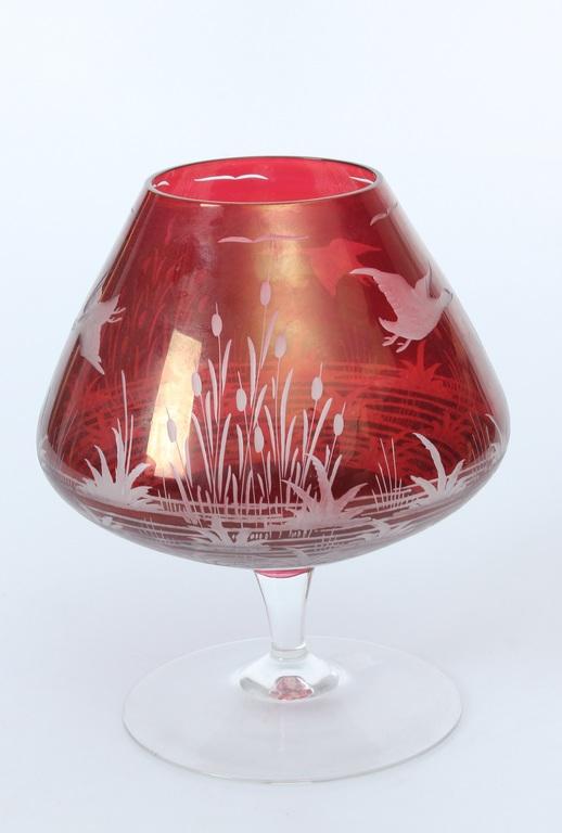Krāsainā stikla kauss/vāze