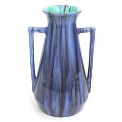 Jūgendstila keramikas vāze (zila)
