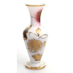 Stikla vāze ar zeltījumu
