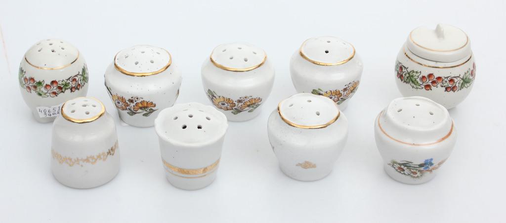 Фарфоровая посуда для специй (9 шт.)