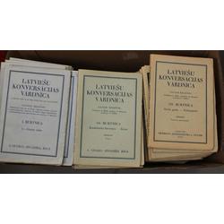 Latviešu konversācijas vārdnīcas 167 burtnīcas