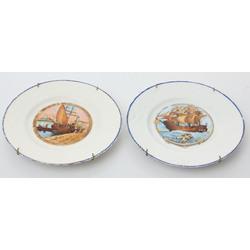 Divi porcelāna šķīvji