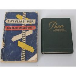 2 books - Latvian SSR car routes, Riga (краткий справочник)