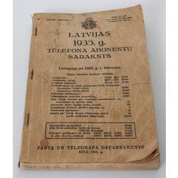 Latvijas 1935.g. telefona abonentu saraksts