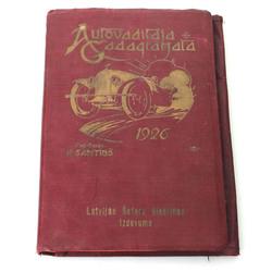 Auto-vadītāja gada grāmata 1926