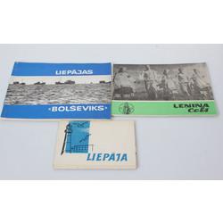 1 grāmatas, 1 brošūra un 1 atklātņu albums  - Liepāja, Ļeņina ceļš, Liepājas