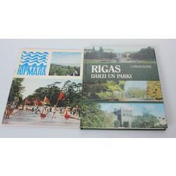 2 grāmatas - Jūrmala, Rīgas dārzi un parki