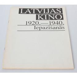 Latvijas kino 1920.-1940. Iepazīšanās